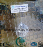 Vidro modelado da pirâmide desobstruída com ISO do CE (3 8mm)