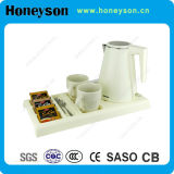 Hotel Water Kettle con ABS Material Welcome Tray
