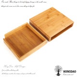 Rectángulo de empaquetado de madera del color natural hecho a mano de encargo de Hongdao para el _E del rectángulo de almacenaje del regalo