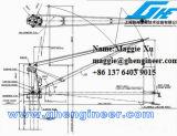 Gru idraulica elettrica della piattaforma della nave della gru a benna