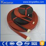 Chemise anti-calorique de boyau de fibres de verre enduits de silicone d'épreuve d'incendie fabriquée en Chine