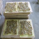 Gelbe Kopfstein-Garten-Fußboden-Fliese für Hauptdekoration