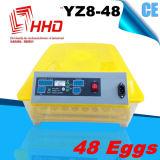Incubadora automática do ovo da galinha da venda quente de Hhd para a venda