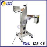 까만 PVC/HDPE에 인쇄를 위해 광섬유 Laser 표하기 기계를 암호로 하는 Cycjet 로고