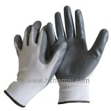 Polyester-Zwischenlage-glattes Nitril tauchte Palmen-Sicherheits-Arbeits-Handschuh ein