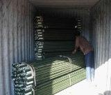 poste peint vert de frontière de sécurité de ferme de 1.33lb/FT T Post/6FT