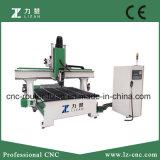 Centro de mecanización de la carpintería del CNC de 4 ejes