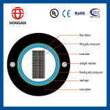 Câble plat de fibre optique de tube central de 96 faisceaux pour la transmission