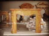 Lareiras em mármore Mantel Stone Lareira / Escultura de pedra / Mantel de mármore