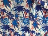 Diverse Stof van de Polyester van de Perzik van het Overhemd van de Strandkleding van de Kokospalm de Borrels Afgedrukte