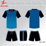 HealongはTeamwearによって個人化された染め昇華フットボールジャージーをカスタマイズした