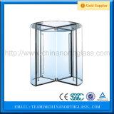 Porta de vidro giratória transparente