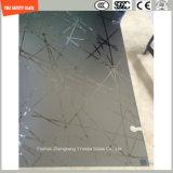 gravura em àgua forte ácida da impressão digital do Silkscreen Print/No de 4-19mm/geado/teste padrão moderado/vidro temperado para o chuveiro, banheiro no hotel e HOME com SGCC, certificado do Ce