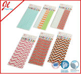 Red Polka DOT Silly Papel de beber pajas