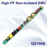 12-25W Hpf EMC QS1068の非絶縁LEDの管ライト電源