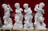 Escultura em mármore de pedra de mármore esculpida em anjo (SY-X002)