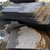 Pavimento non tappezzato di pietra vulcanico naturale che pavimenta le mattonelle del basalto delle mattonelle