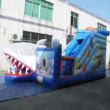 Gaint Baleia Tubarão Comercial Parque de Diversões inflável playground para crianças