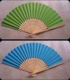 Fördernder Geschenk-beweglicher Zoll gedruckter faltender Firmenzeichen-Bambushandventilator