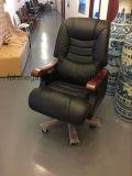 マネージャのための黒い革執行部の椅子の家具