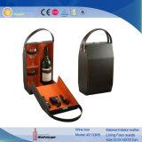 Contenitore di regalo di trasporto dell'azzurro del vino di cuoio su ordinazione dell'unità di elaborazione (2133R5)