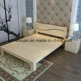 固体木のベッドの現代ダブル・ベッド(M-X2340)