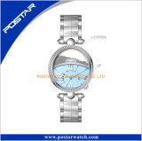 Kleiden der Armbanduhr-Dame-Uhr-Form-Uhr mit Mopp-Vorwahlknopf