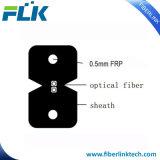 1 cable de gota plano de interior de la comunicación de la fibra FTTH