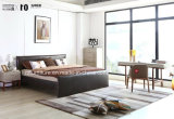 Кровать спальни Италии просто деревянной рамки кожаный