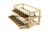Armazenamento esperto do frasco do gabinete da madeira contínua que desliza cremalheiras do vinho vermelho