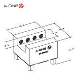 a-één de Ingelaste Houder van de Elektrode van het Messing EDM om Werkstukken 3A-500110 vast te klemmen