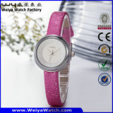 Wristwatch повелительниц кварца кожаный планки ODM вскользь (Wy-089A)