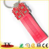 Кожа Keychain логоса металла способа выдвиженческого сувенира изготовленный на заказ