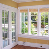 Double vitrage fenêtre double en aluminium Hung / Single Hung Windows