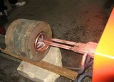 Индукционного нагрева машины горячим воздухом внутреннее отверстие цилиндра экструдера Quenching машины внутри машины погружных подогревателей