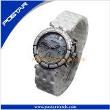Het aantrekkelijke Ronde Digitale Charmante Horloge van het Horloge met Stenen