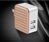De dubbele Lader Maximum 5V/2.4A, de Draagbare Lader van de Muur USB van de Reis met Vouwbare Stop