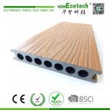 Decking composé en plastique en bois recouvert par couleur de mélange