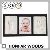 Frame preto moderno da foto do bebê da madeira contínua com argila