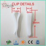 Recyclage de haute qualité utilisé 39mm en plastique en forme de R Shirt Clip d'emballage pour les vêtements