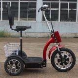 Adulto 500W 3 rodas dobráveis Scooter de mobilidade eléctrica com a cesta