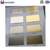 Goldrosen-GoldEdelstahl farbiger Blatt-dekorativer Platten-Haarstrichsatin