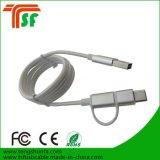 3 em 1 cabo do USB do carregador com 8pin /Micro/Type-C Contector