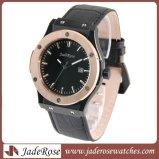 El hombre del deporte de alta calidad reloj de pulsera de acero inoxidable, resistente al agua de los hombres reloj de cuarzo