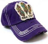 Großverkauf gewaschene kundenspezifische Änderung- am Objektprogrammstickerei-Hüte
