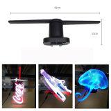 LEDのファン3Dホログラムの表示
