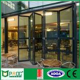 Porta Bifold de alumínio/portas exteriores de Bifolding do balcão