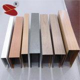 Алюминиевый потолок для потолка падения дефлектора формы u деревянного