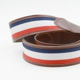 Les courroies argentées de boucle de Pin ont tricoté les courroies en cuir de taille de sangle pour les hommes