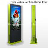 Affichage à cristaux liquides extérieur Air-Conditionnel vertical annonçant le kiosque de Signage de Digitals d'écran